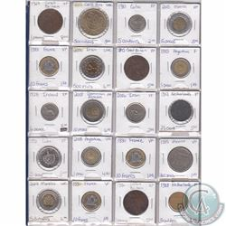 Lot of 20x Miscellaneous World Coinage Dated 1927-2008 in Plastic Page. 20pcs