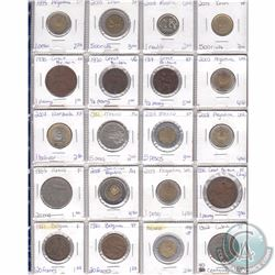 Lot of 20x Miscellaneous World Coinage Dated 1917-2009 in Plastic Page. 20pcs
