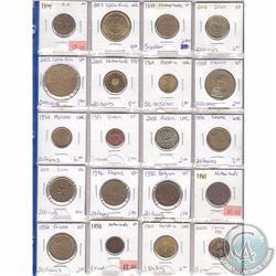Lot of 20x Miscellaneous World Coinage Dated 1937-2009 in Plastic Page. 20pcs
