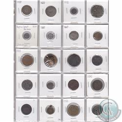 Lot of 20x Old World Coinage & Some Tokens from 1600s, 1700s, 1800s & 1900s. Some of the dates are u