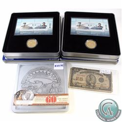 RCM lot of 2x 2010 Canada 100th Anniversary of the Canadian Navy Coin and Stamp Set, 2005 Canada 60t