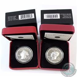 2x Canada $15 Vignettes of Royalty Series Sterling Silver Coins - 2008 Queen Victoria (Lightly toned