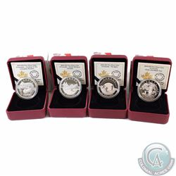 Lot of 4x 2014 O Canada $25 Fine Silver Coins. You will receive Cowboy in the Canadian Rockies, Unde