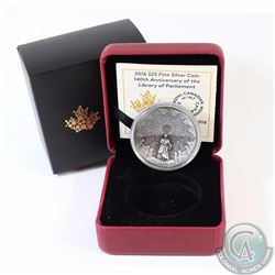 2016 Canada $25 The Library of Parliament Fine Silver Coin (TAX Exempt)