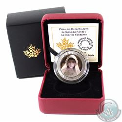 2014 Canada 25-cent Haunted Canada - Ghost Bride Cupronickel Coin (Outer sleeve lightly worn)