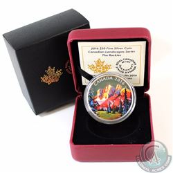 2016 Canada $20 Canadian Landscapes - The Rockies Fine Silver Coin (Capsule lightly scratched) (TAX