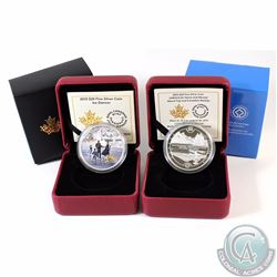 2015 Canada $20 Ice Dancer & 2015 $20 UNESCO Mount Fuji & The Canadian Rockies Fine Silver Coins. 2p