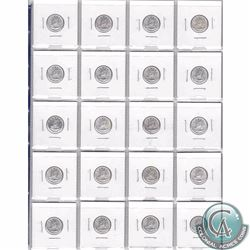 Lot of 20x Uncirculated 1962 Canada 10-cents (Mint State). 20pcs