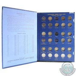 1901 to 1967 Collection of Canadian Silver Dimes in vintage Whitman Folder. You will receive the fo