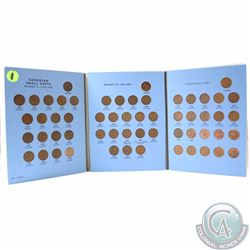 1920 to 1972 Canada Small Cent Collection in Vintage Whitman Folders. You will receive a complete se