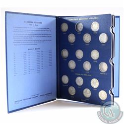 1921-1969 Canadian 25-cent Collection housed in a vintage whitman Album. You will receive of each c