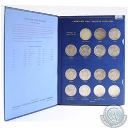 1937-2002 Canadian Collection of 50-cents housed in a vintage whitman album. You will receive the f