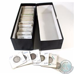1907-1968 Canada Silver 25-cents. You will receive a total of 74 coins dates anywhere from 1907 to 1