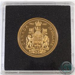 1967-2017 Canada $20 Centennial Commemorative Gold Plated Proof Silver coin (Tax Exempt)