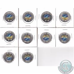 10x 2017 Dance Coloured $2 Brilliant Uncirculated Condition. 10pcs