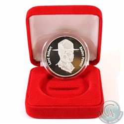 1907-2007 Lord Robert Baden Powell 100th Anniversary .999+ Fine Silver Coin Encapsulated in Red Disp