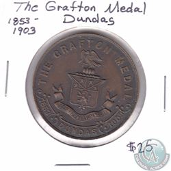 1853-1903 Dundas Ontario The Grafton Medal. 38mm in diameter.