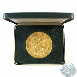 1969 Investiture of Prince Charles as the Prince of Wales Bronze Coloured Medal in Royal Mint Displa
