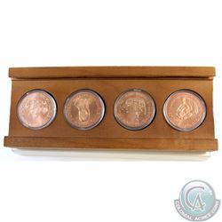 1992 500th Anniversary of the Discovery of America 4-coin Bronze Medal set. This lot includes four e