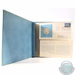 1974 United Nations Sterling Silver Proof Medallic Art First Day Cover Stamp Album. This album conta