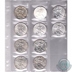 1987-2015 United States 1oz Fine Silver Eagles (TAX Exempt). You will receive the following years: 1