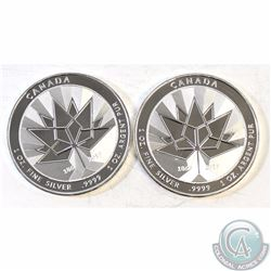 Pair of 2017 Canada 150th Anniversary 1oz. .999 Silver Round (TAX Exempt). 2pcs