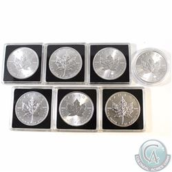 2011-2017 Canada $5 1oz 9999 Fine Silver Maple Leafs (TAX Exempt). You will receive the following da