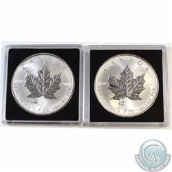 Pair of 2000 & 2001 Canada $5 Privy 1oz Silver Maples (TAX Exempt). You will receive the 2000 Dragon