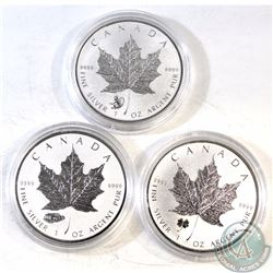 Lot of 2016 Canada $5 1oz Privy Silver Maples (TAX Exempt). You will receive the Tank Privy, Four Le