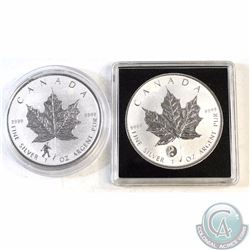 Pair of 2016 Canada $5 Privy 1oz Silver Maples (TAX Exempt). You will receive the Bigfoot Privy, and