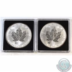 2002 & 2003 Canada $5 Privy Silver Maples (TAX Exempt). You will receive the 2002 Horse Privy, and 2