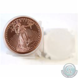 20x Standing Liberty 1oz Fine Copper Rounds (TAX Exempt). Coins come in a tube. 20pcs.