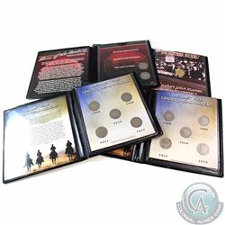 Group Lot of First Commemorative Mint coin Sets in Presentation Folders. You will receive the follow