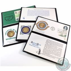 Group Lot of Medalist First Day Cover Coin and Stamp Sets. You will receive the following Sets: Capt