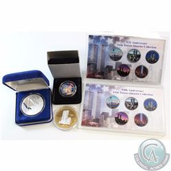 9/11 Twin Towers Coin Collection Lot. You will receive the following items, 2004 One Dollar Recovery