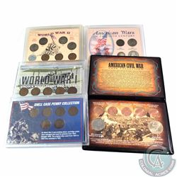 Group Lot of United States Commemorative War coin Sets. You will receive the following sets: WWI Lin