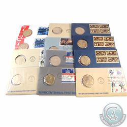 Group Lot 1972-1976 United States Bicentennial Medal and Stamp First Day Covers. You will receive 3x
