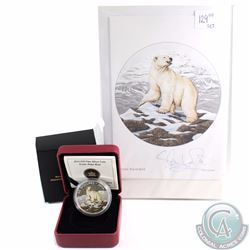 2014 Canada $20 Iconic Polar Bear Fine Silver Coin with Hand Signed Greeting Card (Tax Exempt)