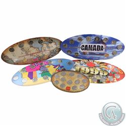 Group Lot of 1992-2000 Oval Commemorative Collector Boards with Coins. You will receive the 1992 12-