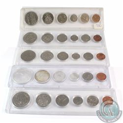 1967-1982 Canada Circulation 6-coin Year Sets in snap lock cases. You will receive the following yea