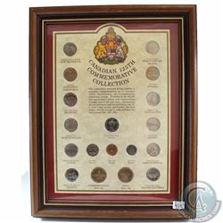 1992 Canadian 125th Commemorative Quarter Collection in Wooden Frame. This 18-coin Set features each