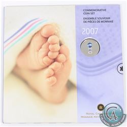 2007 Canada Baby 7-Coin Gift Set with Commemorative Coloured 25-cent. *With sealed sticker*