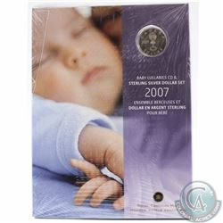 Scarce! 2007 Canada Baby Lullabies Loonie Silver Dollar with CD Set *Still Sealed*