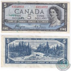 1954 Devil's Face $5.00 Note with Coyne-Towers Signatures.