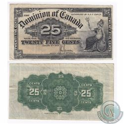 1900 25c Note from the Dominion of Canada with Scarce Saunders Signature.