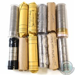 Estate Lot of 12x Canada 5-cent Rolls of 40pcs. You will receive a variety of years, oldest date 194