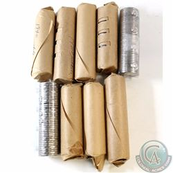 Estate Lot of 9x Canada 5-cent Rolls of 40pcs. You will receive mostly mixed date rolls from 1940 to
