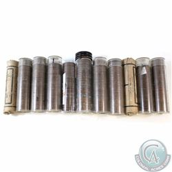 Estate Lot of 11x Canada George VI 1-cent Rolls of 50pcs. You will receive the dates 1940-1952 (as s