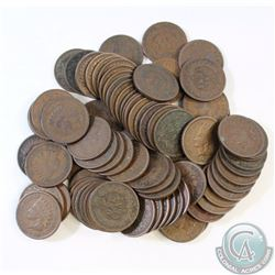 Estate Lot of 78x USA Indian Head Cents Dated 1900-1909. 78pcs