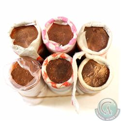 Estate Lot of 6x Canada 1-cent Original Rolls of 50pcs. You will receive 4 double head rolls, 1981 &
